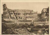 Antique Print The Colosseum Rome Ruins Coliseum Old Sepia Photogravure Vintage