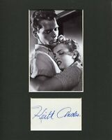 Keith Andes Clash by Night Signed Autograph Photo Display With Marilyn Monroe