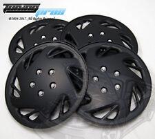 "Hubcap 15"" Inch Wheel Rim Skin Cover 4pcs Set Matte Black -Style 054 15 Inches-"