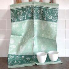 Geschirrtuch Butterfly smaragd grün reines Leinen Küchentuch Ju-Lein Gläsertuch