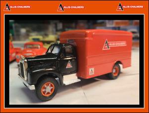 1:50 Custom Corgi B-61 Van Truck in authentic ALLIS CHALMERS colors