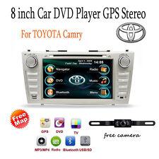 """Car DVD GPS Navi 8"""" Player Radio For Toyota Camry 2007 2008 2009 2010 2011+Cam"""