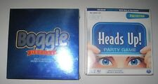 Boggle Deluxe & Heads Up Party Game Ellen DeGeneres Sealed Brand New Fun Games