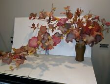 """57"""" long - Frosted Autumn/Fall Grape Bush with wired stems & 322 leaves"""