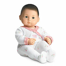 American Girl BITTY BABY  DOLL BB9 WHITE SLEEPER BRN HAIR GREEN EYES NEW