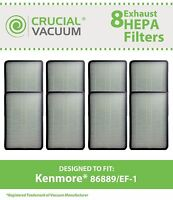 8 Replacements Kenmore 86889 EF-1 Vacuum Filters # 86889 & MC-V199H
