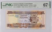 Solomon Islands 20 Dollars nd 2006 P 28 Superb Gem UNC PMG 67 EPQ Top