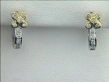 Diamond Earrings 18k Two Tone with 0.33ct Diamonds