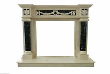 Fireplace Frame Marble Cream Marfile Stone & Green Guatemala