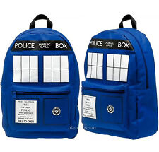NEW Doctor Dr Who Tardis Police Call Box Time Machine School Backpack Book Bag
