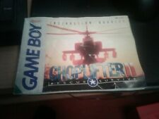 Nintendo Game Boy Choplifter II Rescue Survive Instruction Manual Booklet Only
