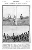 1914.1st World War.Prince of Wales.Grenadiers.Military.Wimbledon Common.Royalty