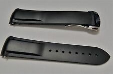 20MM RUBBER WATCH BAND STRAP DEPLOYMENT CLASP FOR  OMEGA
