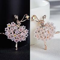 Wedding Bridal Crystal Ballet Girl Brooch Pin Corsage Women Jewelry Party Gift