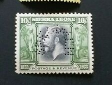 SIERRA LEONE 1933 10s SG 179  Sc 194 SPECIMEN MH with thin & rust perf