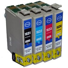 4 CARTUCCE COMPATIBILI  PER EPSON T1631/T1632/T1633/T1634 XL PER WF2010/2510