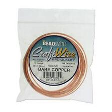 BeadSmith Craft Wire 16ga Round 5yd Spl Bare Copper