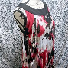 NWT Essentials by MILANO Accordian Splatter Sleeveless Dress | Sz 10 | Orig $62
