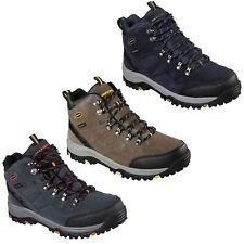 Skechers Relaxed Fit Relment Pelmo Boots Mens Waterproof Memory Foam Hiking Shoe