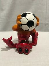 """Kitty's Critters Frog Ceramic Soccer Sculpture / Figurines """"GOOOAAL"""""""