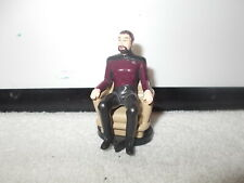 Action Figure Star Trek Series TNG Will Riker In Chair Approx 2.5 inch