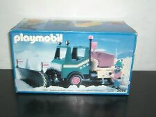 1991 VINTAGE PLAYMOBIL SNOWPLOW TRUCK SET #3695 MIB