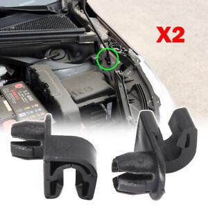 x2 Hood Bonnet Stay Rod Clip For Citroen Berlingo C3 C4 2008 301 208 308 Partner