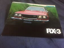 1976 Mazda RX3 USA Market Color Brochure Catalog Prospekt