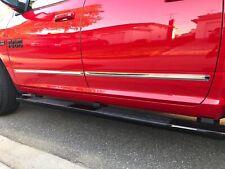 "Chevy Silverado Sierra14-18 Extended Cab Chrome Body Side Molding Trim 1.5"" 3D"