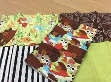 Woodland Animals Design 100% Cotton FQ Bundle of 5 Fabrics Craft/Quilting/Sewing