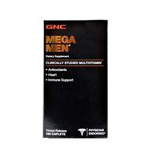 GNC Mega Men Multivitamin 180 Caplets Hear, Immune Support
