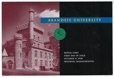 1998 First Day Issue FDC Brandeis University Envelope with Cancelled Stamp