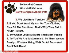Funny Dog Tibetan Mastiff House Rules Refrigerator / Magnet Gift Card Idea