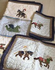 Pottery Barn Kids Medieval Full/Queen Quilt~Dinosauers*Castles* Knights Read