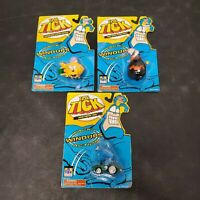 The Tick Hard Drivin Tick Wacky Action Windups Toy Lot 3 Dyna-Mole Sewer Urchin