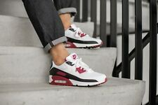 Nike Air Max 90 White/Maroon & Black Men's Trainers in Various Sizes