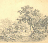 Eight 19th Century Graphite Drawings - Landscape studies
