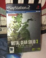 NEW Metal Gear Solid Snake Eater Limited Edition Steelbook Steelcase PS2 English