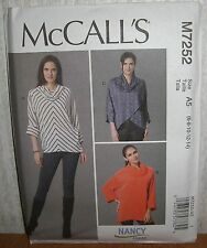 Womens/Misses Loose Fit Pullover Tops Sewing Pattern/McCall's M7252/SZ 6-14/UCN