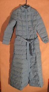S4023 Frostline Kit Women's Small Blue Snap Up Long Puffer Coat