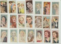 Lot of 21 British Film Star cigarette cards