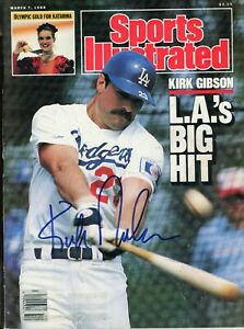 KIRK GIBSON LOS ANGELES DODGERS SPORTS ILLUSTRATED signed autographed