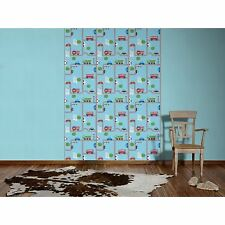 BLUE TRANSPORT WALLPAPER ROLLS (93632-1) CARS, BUSES A.S. CREATION