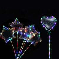 LED Bubble Balloons Luminous Light up Glow Wedding Birthday Party Lights Decor