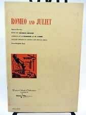 Romeo & Juliet Opera in 5 Acts FRENCH & English text 1967 & Toledo Opera program
