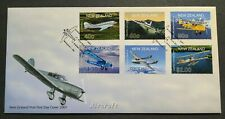 2001 New Zealand Aircraft Aeroplane 6v Stamps FDC