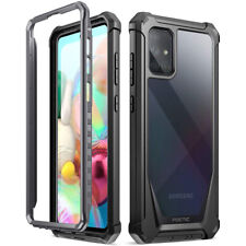 Samsung Galaxy A71 , poética híbrida a prueba de golpes caso cubierta protectora Negro
