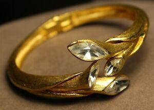 Vintage In Seattle Fantastic flawless goldtone gems KRAMER signed Bracelet #490