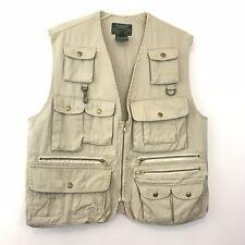 Ralph Lauren Vintage Cargo Vest Camping Hunting Fishing Khaki Size S