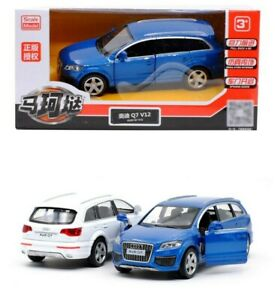 1:36 Audi Q7 V12 SUV Luxury Car Vehicle Collectible Pull Back Diecast Model Toy